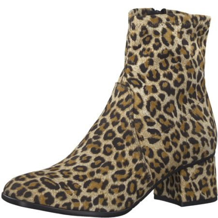 Tamaris Leopard støvle med hæl