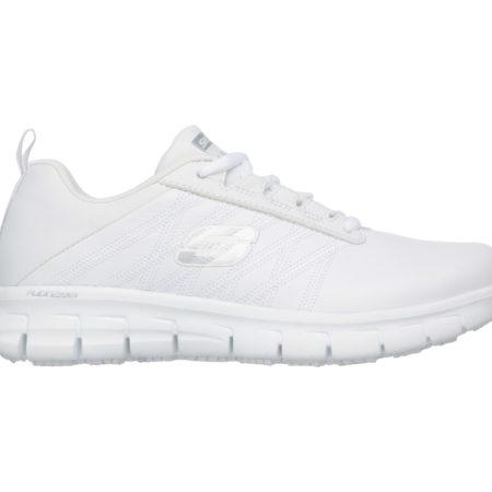 Hvide arbejds sko Skechers