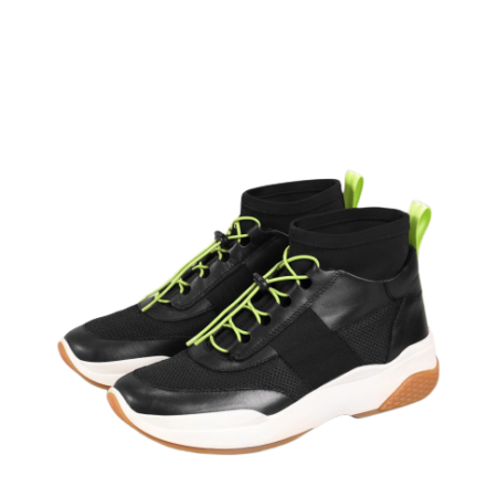 LEXY Black/Neon Textile/Leather Shoes