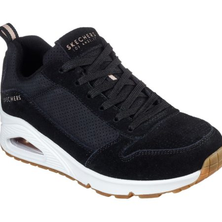 Skechers uno two for the show black sort Womens 73672 damesko sneakers