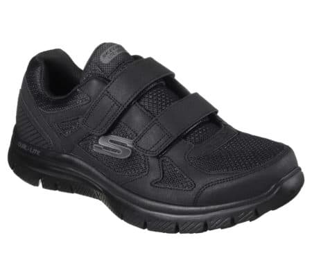 Skechers sneakers 2 velcro mens herre sko 58365 black sort nord sko