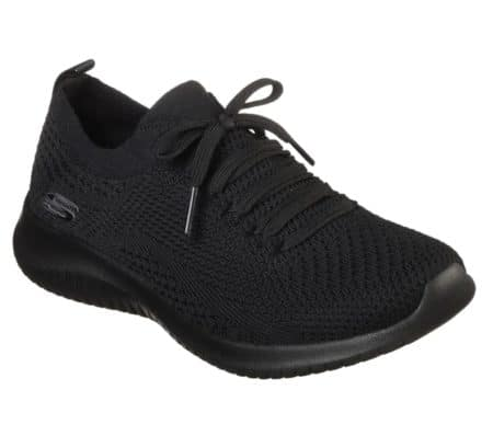 Skechers Ultra Flex Women statements sneakers dame sko 12841 black sort nord sko