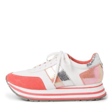 Tamaris sneakers plateaus orange 23737 white orange damesko nord sko