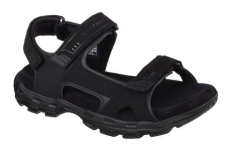 skechers sandal herre sort garver louden 64487 black mens nord sko