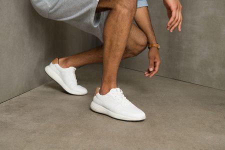 ecco hvid herre læder sko sneakers soft runner 7