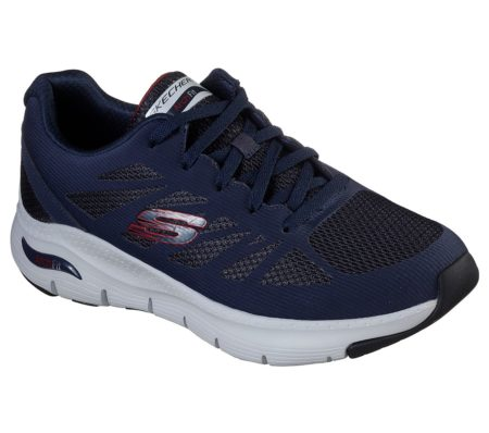 Skechers Arch Fit - Charge Back 232042 nvrd navy Skechers herresko med svangstøtte