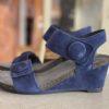 Ca´Shott Sun Suede Navy - Navy Ruskind sandal med knap