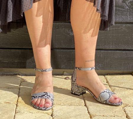 tamaris sandal sommer dame velcro hæl 28215/GREY SNAKE