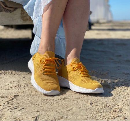 Gul sneakers rugged gear slip on yellow sneakers