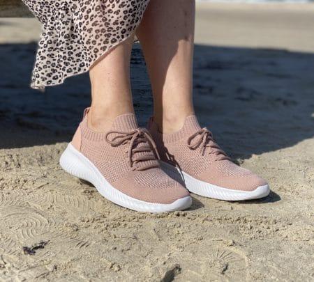 Rosa sneakers, lyserøde sneakers slip on