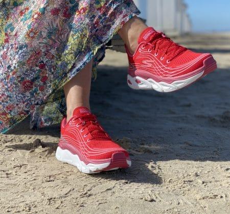 Skechers Max cushioning rød lyserød rød sneakers