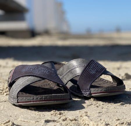 grå herre slip in sandal