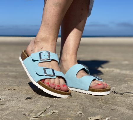 Turkis blå bio sandal billig