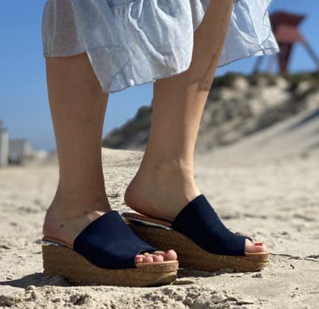 Copenhagen shoes plateau sandal navy