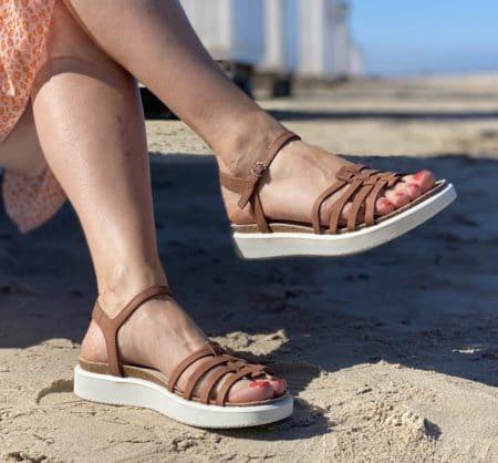 Ecco brun læder sandal