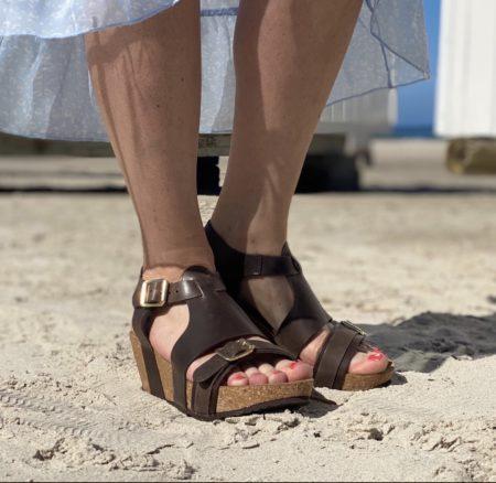 Copenhagen shoes plateau læder med spænde