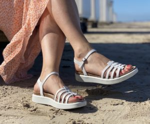 Ecco hvid sandal