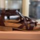 pavement githa leather brun læder sandal