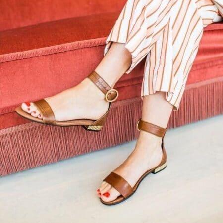 Copenhagen shoes cognac sandal daisy