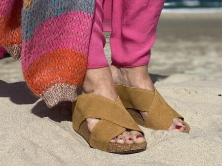 Copenhagen shoes frances tan plateau sandal blokhus