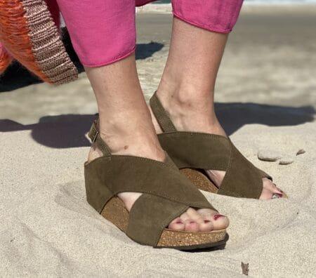 copenhagen shoes susan antilope plateau sandal med bagrem