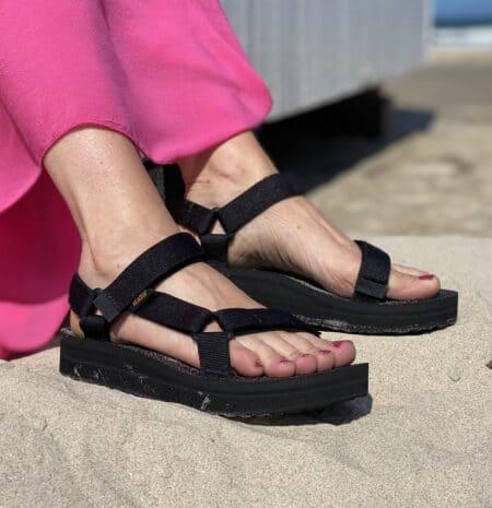 teva original midform sort sandal plateau blokhus strand