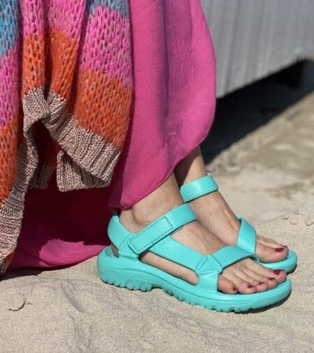 Teva hurricane drift turkis gummi sandal badesandal. trekking sandal turkis blokhus strand