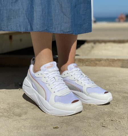 Puma x-ray white rose gold white sneakers hvid puma sneakers blokhus strand