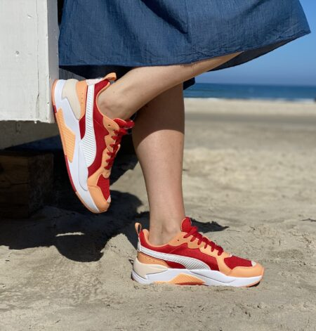 Puma red-wht-cantaloupe-rosewater 372602 05 Blokhus strand multifarvet sneakers orange rød sneakers