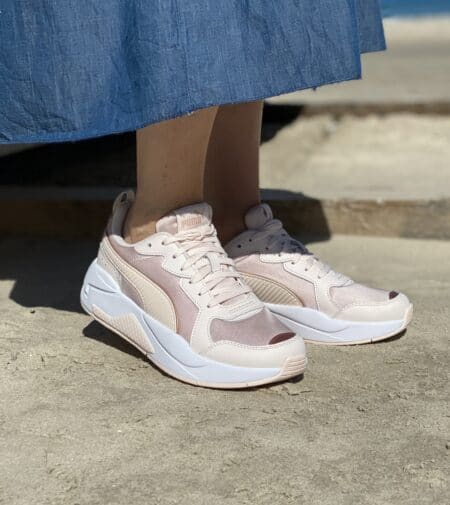 Puma x-ray metallic rosewater-rose gold-white rosa sneakers rosa puma blokhus strand