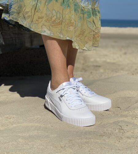 Puma carina L white silver hvid sneakers 370325 blokhus strand