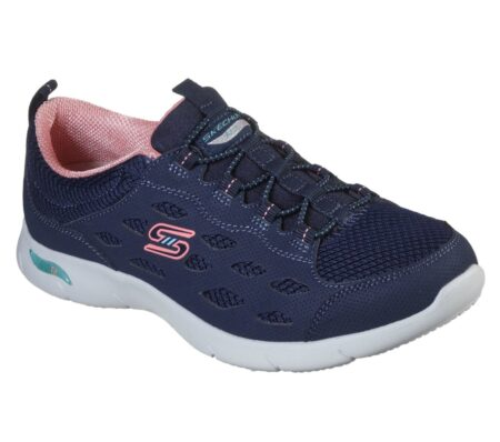 skechers sneakers arch fit 104090 blokhus damesko blå strand hune nord sko