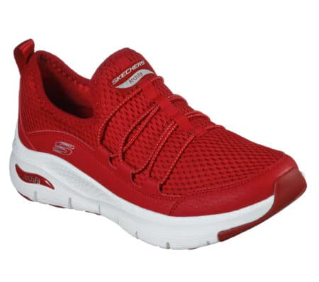 Skechers Arch Fit Lucky Thoughts Red 149056 rød hune blokhus nord sko snekers hyttesko
