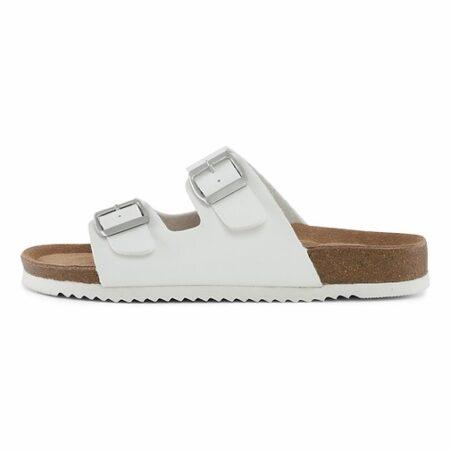 HVID bio sandal billig med blød bund hvid nord sko