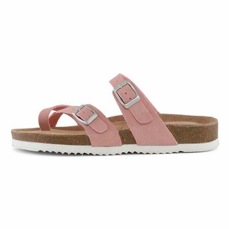Lyserød bio sandal billig med blød bund nord sko rosa