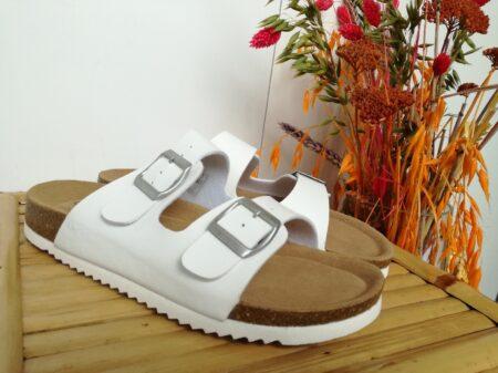Lyserød bio sandal billig med blød bund hvid nord sko