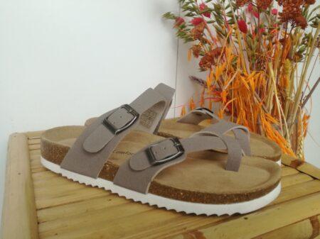 Lyserød bio sandal billig med blød bund nord sko rosa sand