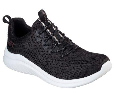 Nyhed..Skechers Lite Groove 13350 dame sneakers sort nord sko blokhus hune strand