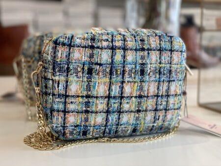 Becksöndergaard taske puzzle pica taske bag tweed multi color glitter 2007412014 nordsko Blokhus Hune