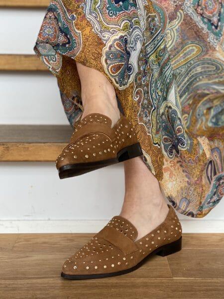 Copenhagen Shoes Molly Suede Cognac cs2056 cognac dame nord sko