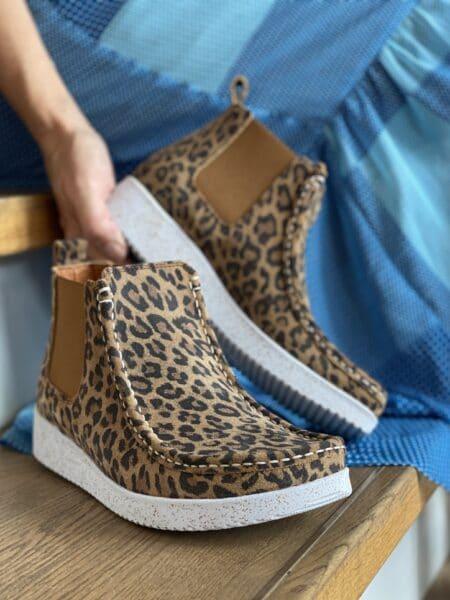 Nature Støvle Ester Suede Print Leopard damestøvle 1022-030-100 nord sko leopard