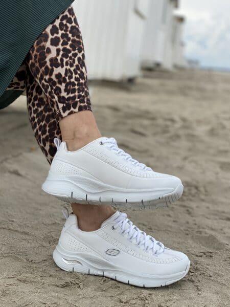 Skechers sneakers arch fit hvid læder