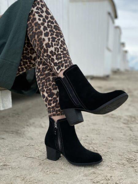 Skechers Taxi Accolade Sort dame støvle med hæl sort 48449 nord sko blokhus hune