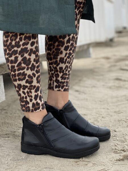Green Comfort Lugano Black støvle dame 32105 lynlås nord sko