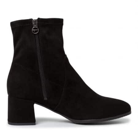 tamaris damestøvle støvle sort lynlås 25061 nord sko