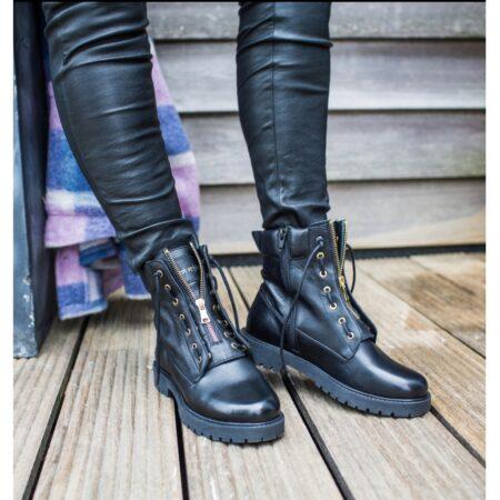 Copenhagen Shoes Støvle Vilma dame cs5207 sort black nord sko blokhus strand hune