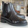 Pavement maria two polido kort læder støvle med elastik