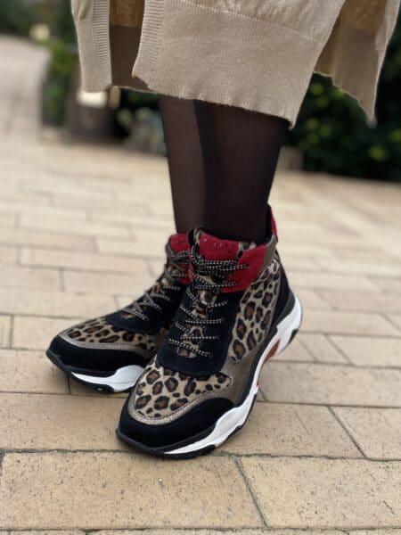 Marco Tozzi Damestøvle Black Leopard dame vinterstøvle nord sko