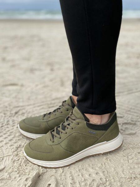 Exostride - Ecco sko i armi grøn 835303 Army grøn sneakers med goretex vandtæt sneakers