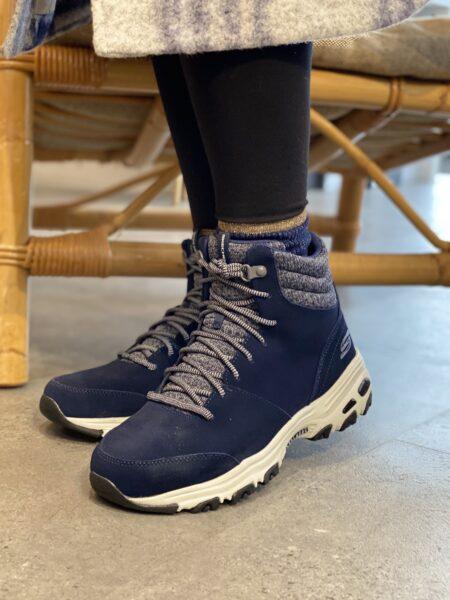 Skechers DLites Chill Flurry Womens dame 49727 blå vinterstøvle nord sko 49727 blokhus strand